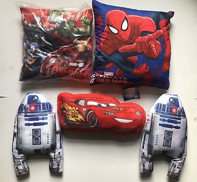 Super Heroes Star Wars Spider Man Cars Cushion Pillow Great Christmas Gift NEW