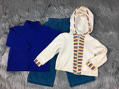 Vintage Lot Baby Girl Boy 18-24 Months Shirt Healthtex Pants Terry Cloth Hoodie