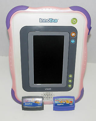 InnoTab  Vtech Handheld  pink/purple   2 games  1268