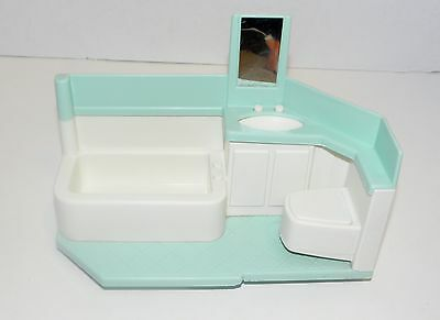 Little Tikes Blue Roof Dollhouse replacement bathroom &  hanging  light