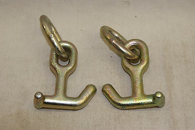 2 New Hammerhead Combo T & Mini J Frame Hook on Ring Towing Car Carrier Race car