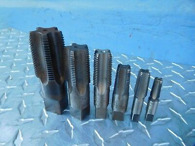 6pc NPT Tap Set ACE,MORSE,VERMONT,BTFLD 1/8'',1/4,3/8,1/2,3/4'',1'' Made In USA