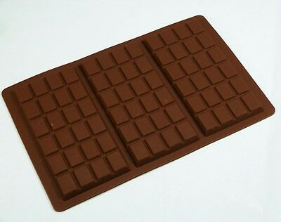 Silicone 3 Cell Large Bar Chocolate Mould - FREE POSTAGE