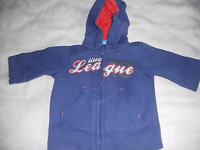 Baby boys Size 0000  Baby Kidz blue fleece hoodie jacket