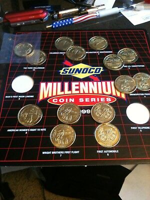 SUNOCO MILLENNIUM COIN COLLECTION Missing two 1999 COIN SERIES LOT WITH HOLDER