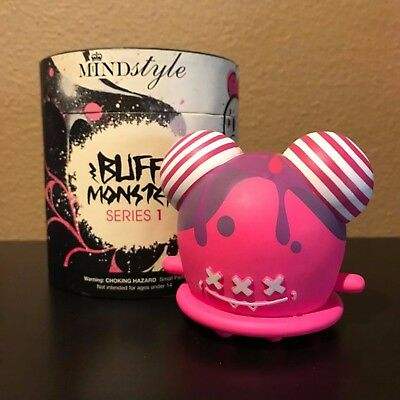 """Rare limited edition pink Buff Monster x Mindstyle 3"""" Vinyl Toy"""