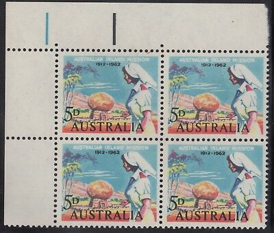 1962 5d Inland Mission autotron block of 4, mnh/mh