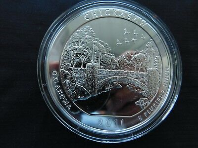 2011 A.T.B. 5 oz silver Chickasaw N.P., Oklahoma Unc mint state