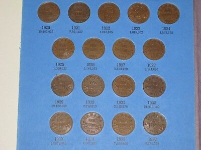1920-1972 Canadian Cent Complete Set w/ all Key Dates in Whitman Folder