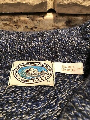 Vintage VTG Enviornmental Clothing Made In USA Wool Blend Sweater 10/10CONDITION