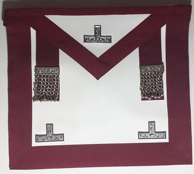 Centennial /Canadian Crimson Red MM/PM Worshipful Apron