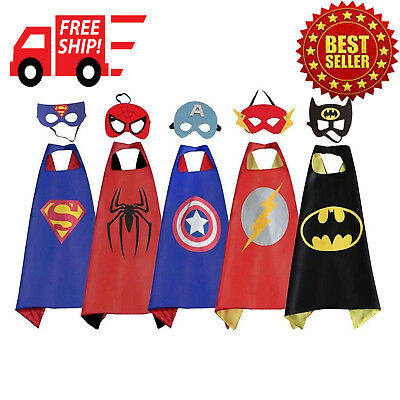 5 PACK Cape and Mask Costumes Set Piece 5