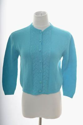 Vintage McMullen Hand Knitted Cardigan 100% Wool British Crown Colony Hong Kong