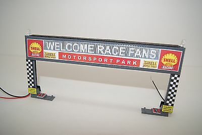 Ho Scale Slot Car Scenery / 4 LANE LIGHTED START - FINISH LINE UNIT for AFX,TYCO