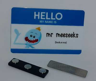 Plastic Mr. Meeseeks Rick and Morty Adult Swim Cosplay Halloween Costume ID Card