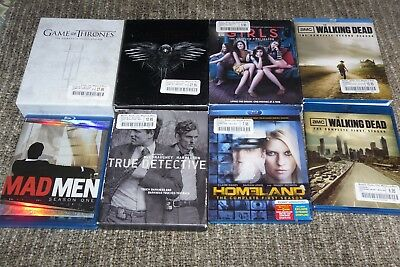 BLU RAY LOT 8 Seasons Game of Thrones True detective HBO, Showtime  etc