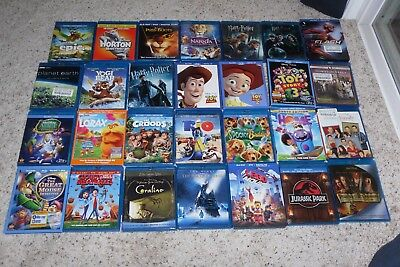 BLU RAY LOT of 28 kids and family movie collection