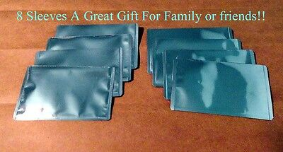 8 RFID High Level Blocking-Credit Card Sleeves like a pouch and is Waterproof!!