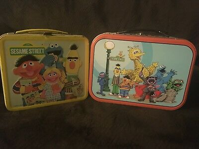 lot of 2 Sesame streets lunch boxes
