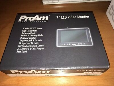 "7"" on-camera lcd video monitor kit with rca av inputs"