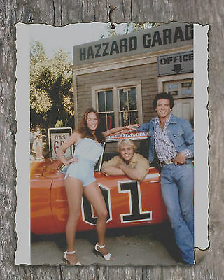 Dukes of Hazzard  Cousins at Cooters Garage Print 8x10