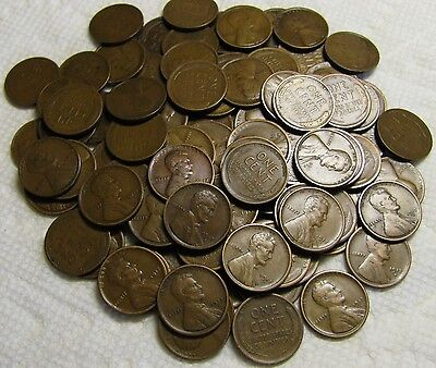 2 Rolls Of 1917 S San Francisco Lincoln Wheat Cents From Penny Collection