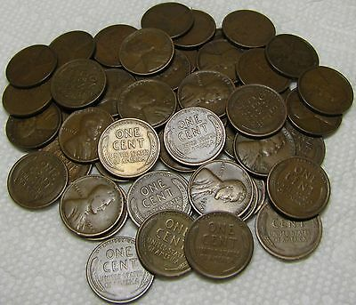1 Roll Of 1924 S San Francisco Lincoln Wheat Cents From Penny Collection
