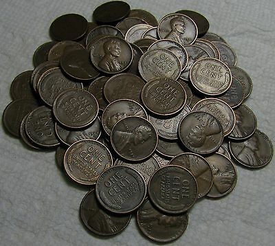 1 Roll Of 1927 S San Francisco Lincoln Wheat Cents From Penny Collection