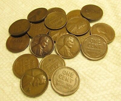 1/2 Roll Of 1931 D Denver Lincoln Wheat Cents From Penny Collection