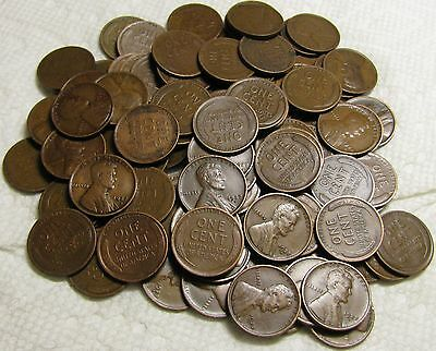 2 Rolls Of 1927 D Denver Lincoln Wheat Cents From Penny Collection