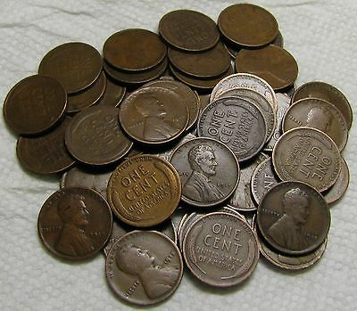 1 Roll Of 1915 P Philadelphia Lincoln Wheat Cents From Penny Collection