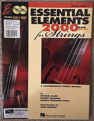 Essential Elements for Strings 2000 - Violin - Book 1 - No CD