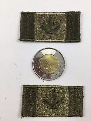 2  Canadian Canada  Flags Army Shoulder Flashes Patches Badges Iron-on or Sew