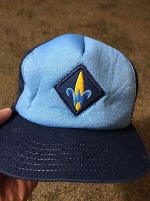 Vintage Webelos Cub Scout Official Blue Hat with Snap Back Made In USA