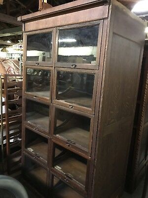 Antique 10 Door/Drawers Oak Country Store Or Haberdashery Merchandise Cabinet