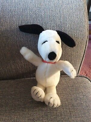 Vintage Snoopy the Dog Plush Soft Toy with original collar