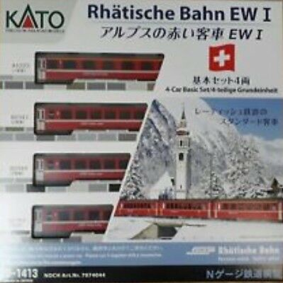 KATO 10-1413 - Swiss RhB EW I - 4pcs Basic Set - N Gauge