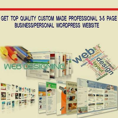 Get Custom  Made  Professional 3-5  Page Business/personal Wordpress  Website
