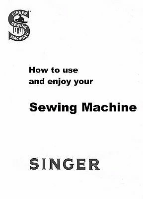 Singer 221k1 Featherweight Sewing Machine Instructions Manual,MachineNOTincluded