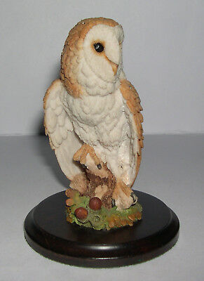 Country Artists Barn Owl with Acorns and Oak Leaves CA723 by Stephen Langford 93