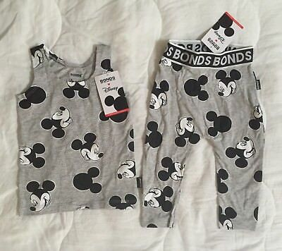 Bonds Disney Mickey Mouse Confetti Set - Brand New with Tags - Size 0
