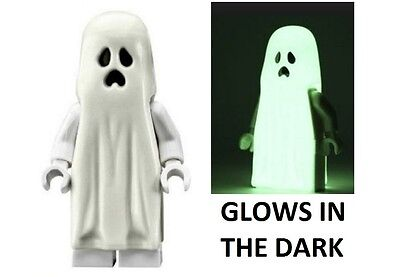 LEGO Glow in the Dark Ghost Minifig Minifigure NEW Halloween