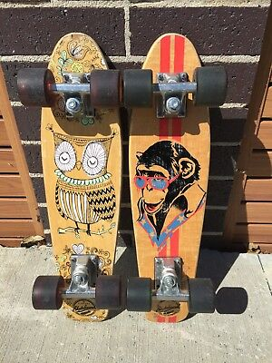 2 Vintage Style SKATEBOARDS - Great Graphics