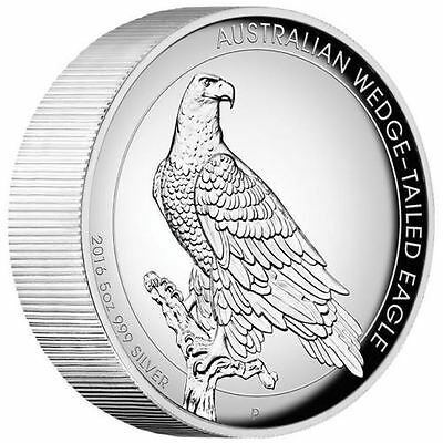 Australian Wedge-tailed Eagle 2016 5oz Silver Proof High Relief Coin