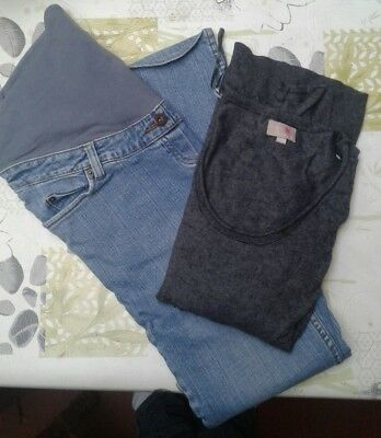 lot grossesse taille 36 jeans et pull