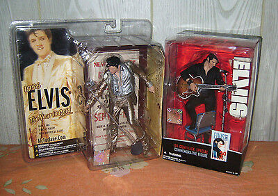 McFarlane ELVIS 1956 the year in gold + '68 comeback special NUOVISSIMI