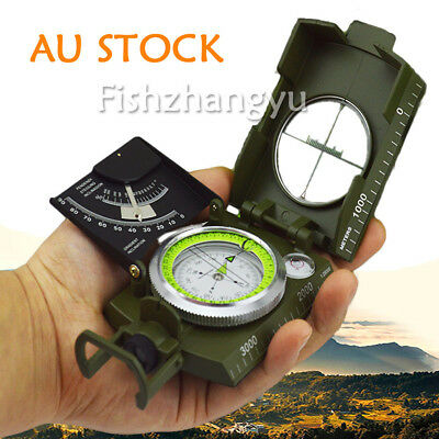 NEW Pro Military Marine Pocket Compass Army Sighting Clinometer Orienteering AU
