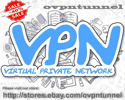 VPN SERVICE ACCOUNT 1 Year OpenVPN Unlimited Data 1Gbps Support Included !