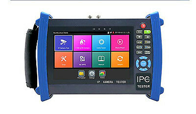 """7"""" H.265 4K IP CCTV Tester Monitor CVBS ONVIF WIFI HDMI Input Cable tracer POE"""