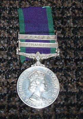 British Medal General Service 1962 2 Clasp To Rm Royal Marines With Docs Scarce!